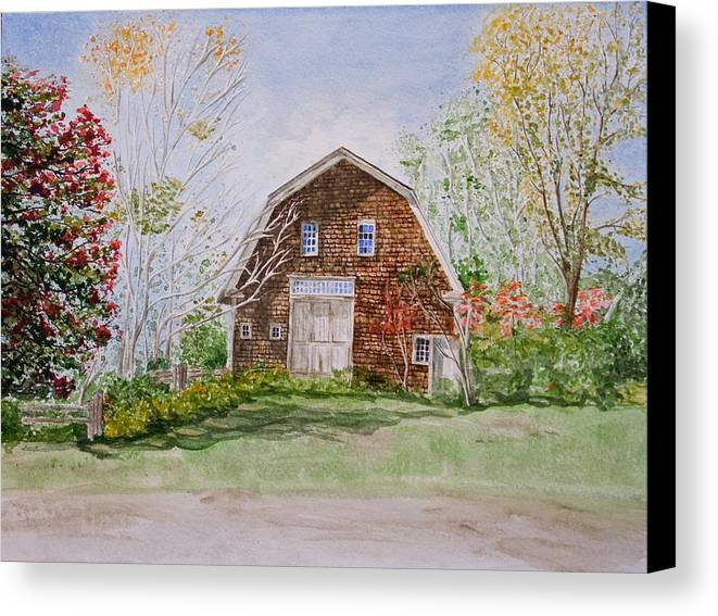 Landscape Canvas Print featuring the painting Forgotten Beauty by Monika Degan