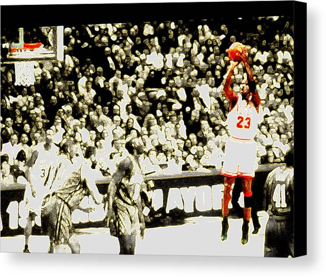 Michael Jordan Canvas Print featuring the digital art Form by Brandon Ramquist