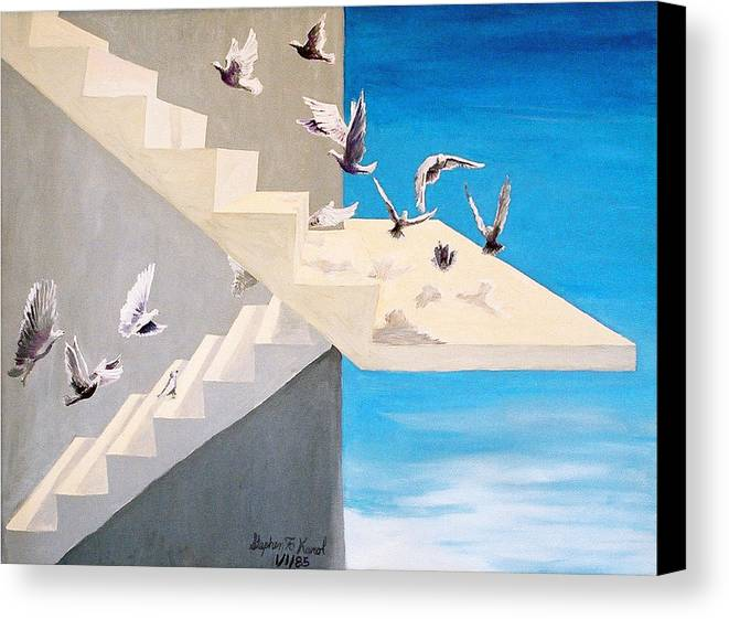Birds Canvas Print featuring the painting Form Without Function by Steve Karol