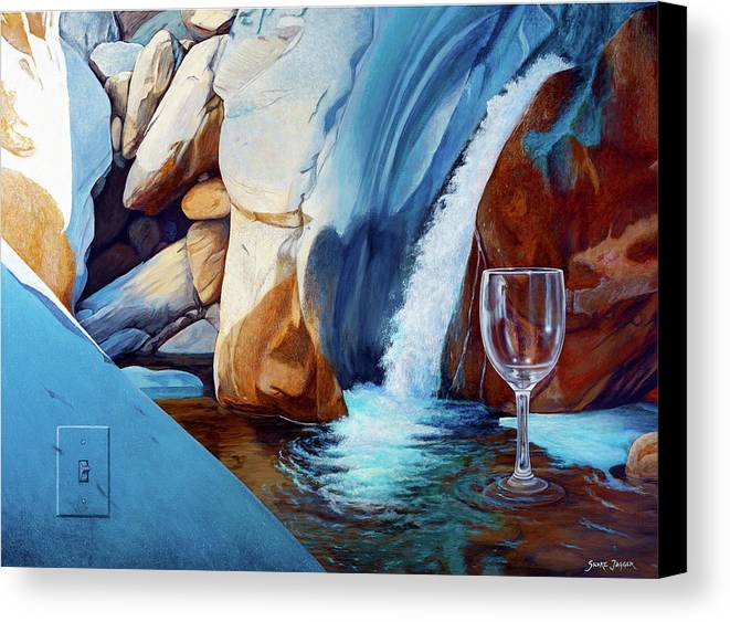 Landscape Canvas Print featuring the painting Fragile Moments by Snake Jagger