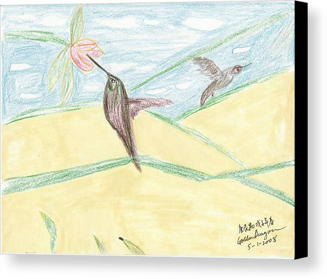 Birds Canvas Print featuring the painting Freedom Has A Higher Price by Golden Dragon
