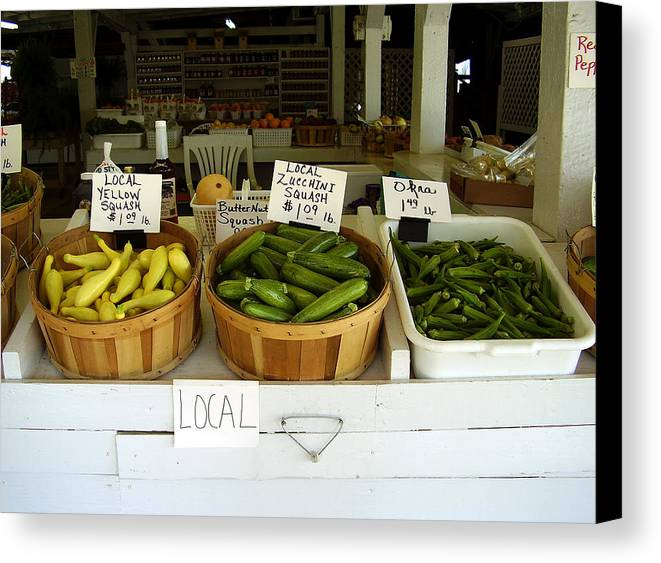Fresh Produce Canvas Print featuring the photograph Fresh Produce by Flavia Westerwelle
