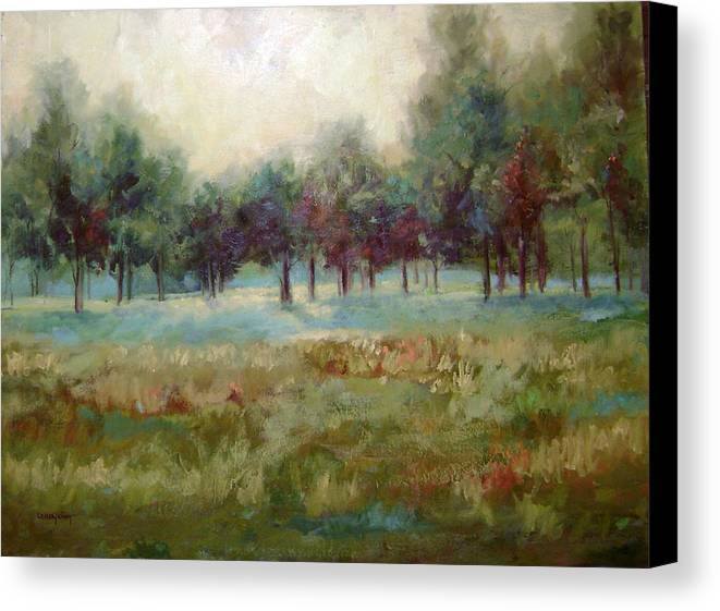 Country Scenes Canvas Print featuring the painting From The Other Side by Ginger Concepcion