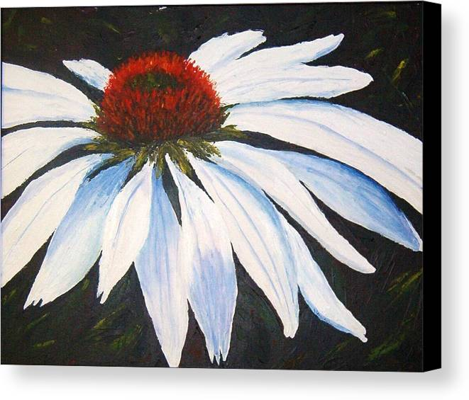 Cone Flowers Canvas Print featuring the painting Ghost Cone by Tami Booher
