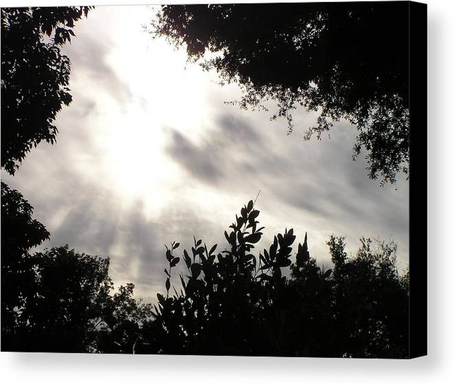 Sun Canvas Print featuring the photograph God Is With Us by Len Barber