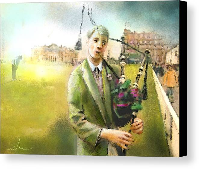 Golf Canvas Print featuring the painting Golf In Scotland Saint Andrews 03 by Miki De Goodaboom