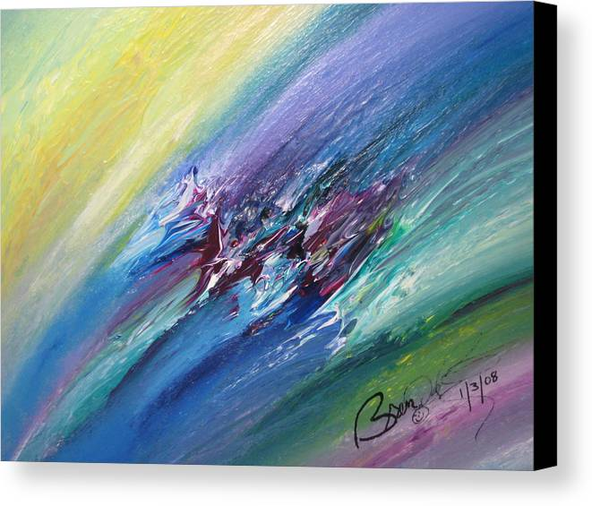 Abstract Canvas Print featuring the painting Honeymoon Bliss - C by Brenda Basham Dothage
