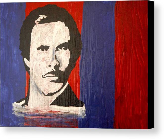 Abstract Canvas Print featuring the painting I Am Ron Burgundy by April Harker