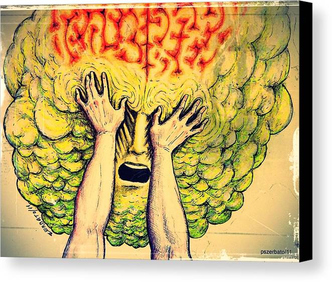 Imposition Of Desire Canvas Print featuring the digital art Imposition Of Desires by Paulo Zerbato