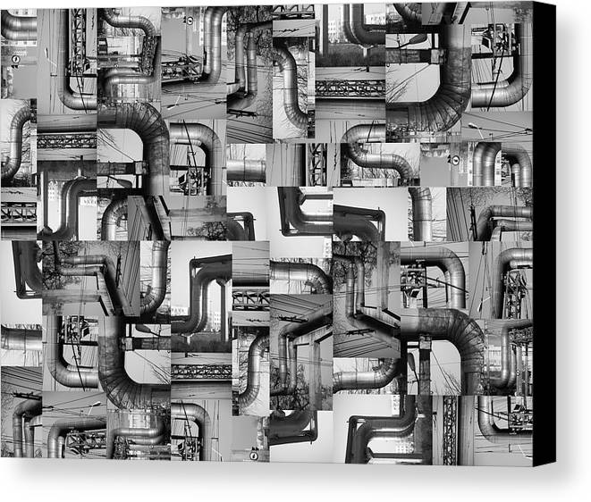 Pipes Canvas Print featuring the photograph Intestins by Gabriela Insuratelu