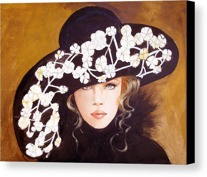 Fashion Canvas Print featuring the print Isabella by Kay Robinson