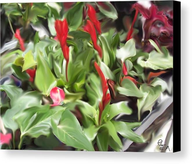 Flowers Canvas Print featuring the digital art Kingwood Center 2 by Crystal Webb