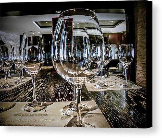 Wine Glasses Canvas Print featuring the photograph Let The Wine Tasting Begin by Julie Palencia