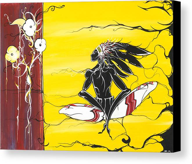 Native Canvas Print featuring the painting Misunderstood by Dallas Poundmaker