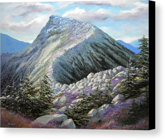Landscape Canvas Print featuring the painting Mountain Ridge by Frank Wilson