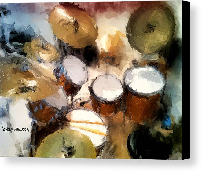 Drum Canvas Print featuring the photograph My Drum Set by Gary Nelson