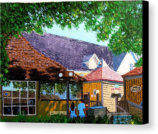 Original Oil On Canvas Canvas Print featuring the painting Nashville 3-06 by Stan Hamilton