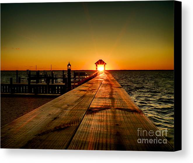 Sunset Canvas Print featuring the photograph Nature's Lantern by Mark Miller