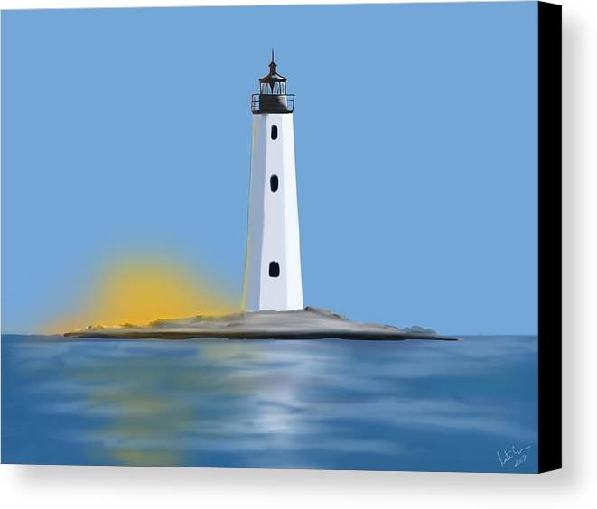 Light Canvas Print featuring the digital art New Point Comfort Light by Justin Canose