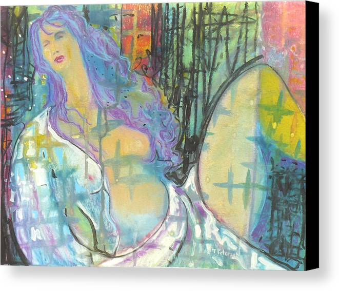 Painting Canvas Print featuring the painting Odalisque by Todd Peterson