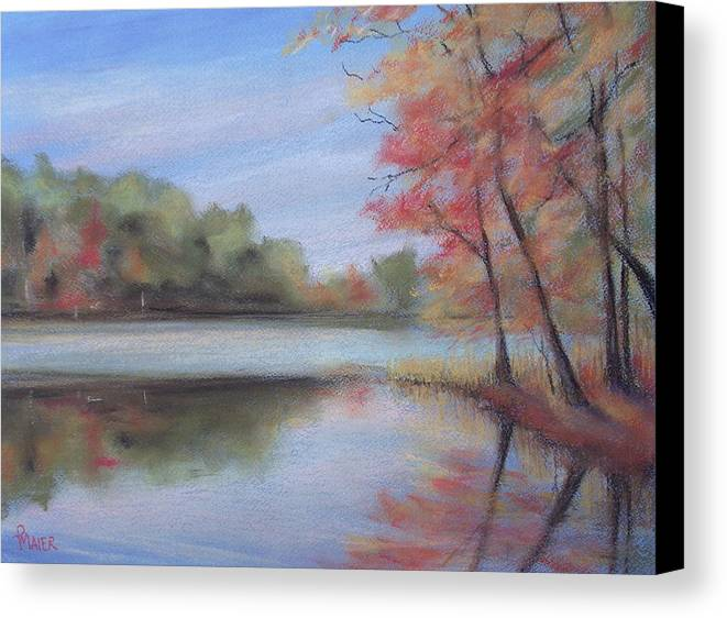 Lakescape Canvas Print featuring the painting Old Friend by Pete Maier