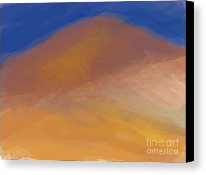 Mountain Canvas Print featuring the digital art One Mountain by Margot Paisley