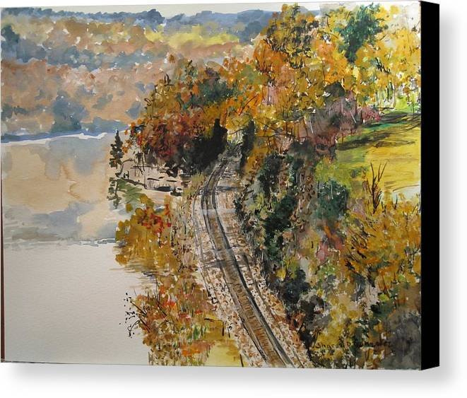 Autumn Canvas Print featuring the painting Ozark Fall by Sharon De Vore