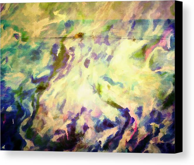Abstract Canvas Print featuring the photograph Paint And Clouds IIi by Tina Baxter