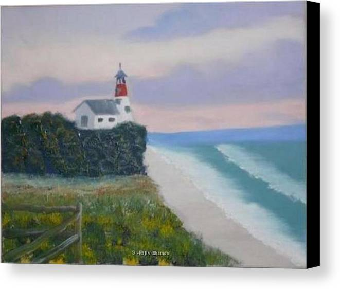 Seascape Canvas Print featuring the painting Peace Sold by R B