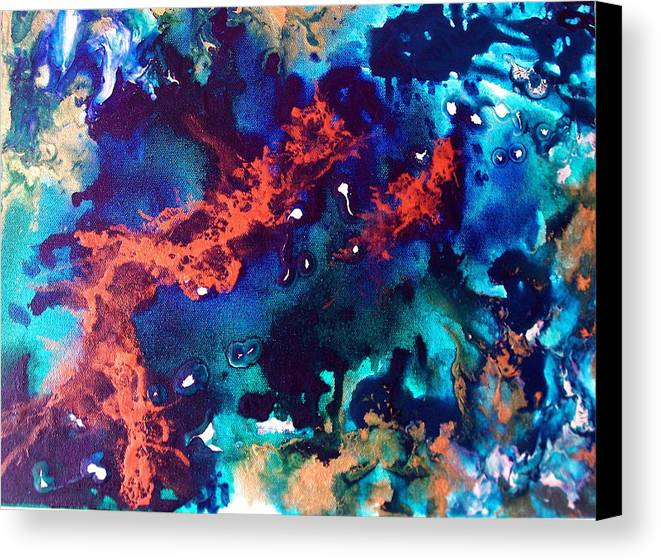 Ocean Canvas Print featuring the painting Pearl by Jess Thorsen