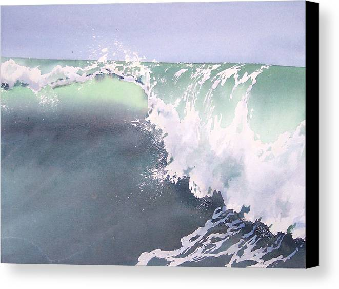 Wave Canvas Print featuring the painting Pismo Wave Number Eight by Philip Fleischer