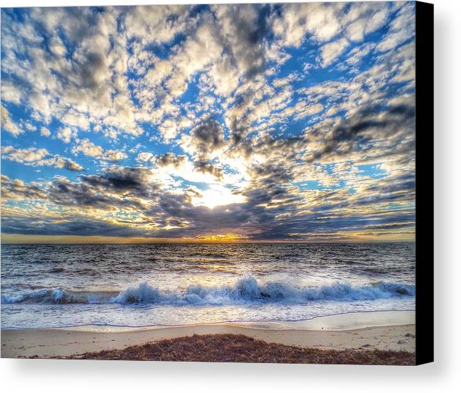Chatham Canvas Print featuring the photograph Popcorn Sky by Emily Sosa