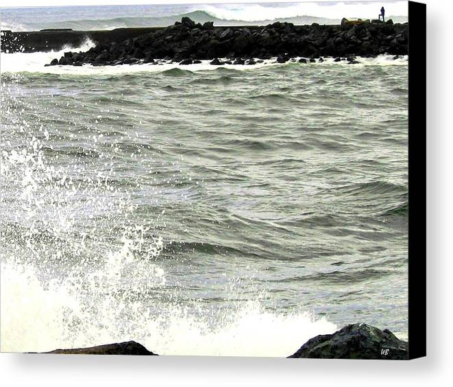 Stormy Canvas Print featuring the photograph Precarious by Will Borden