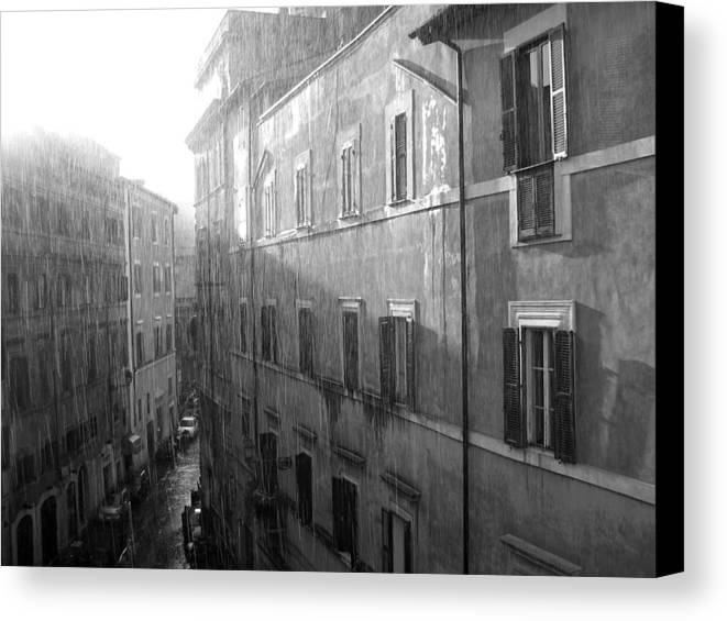 Rain Canvas Print featuring the photograph Rain In Rome by Stephanie Gobler
