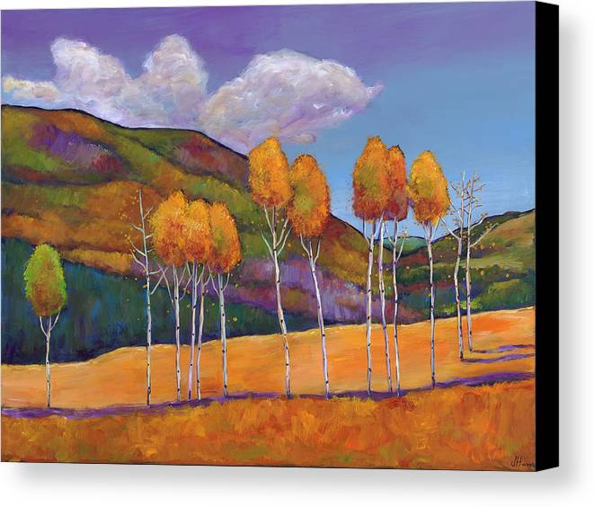 Autumn Canvas Print featuring the painting Reminiscing by Johnathan Harris