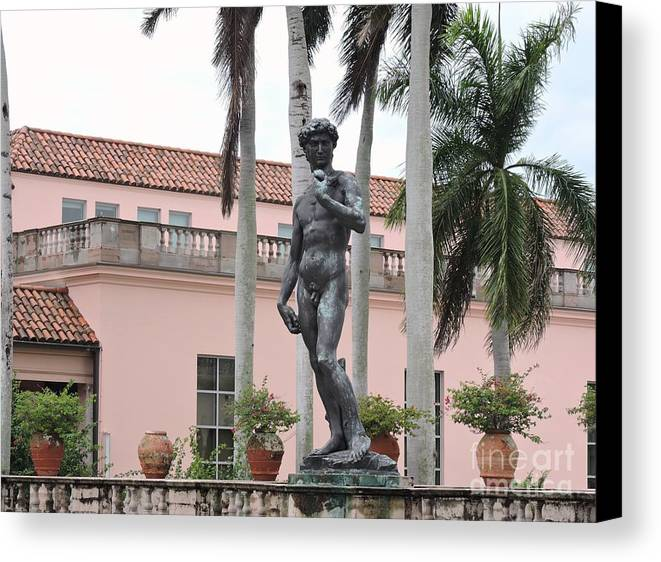 Statue Canvas Print featuring the photograph Replica by Beth Williams