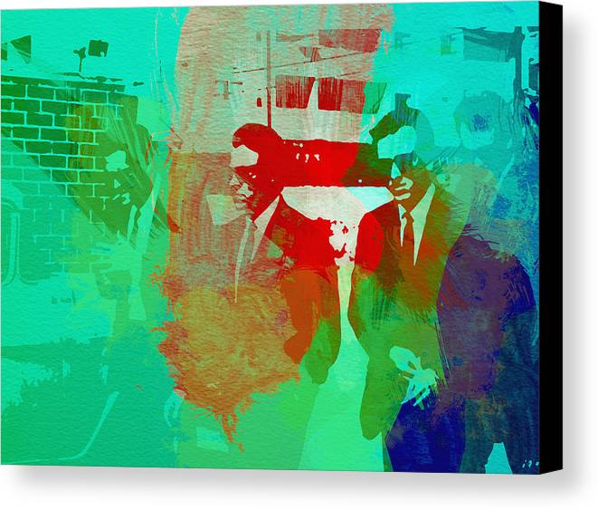 Reservoir Dogs Canvas Print featuring the painting Reservoir Dogs by Naxart Studio