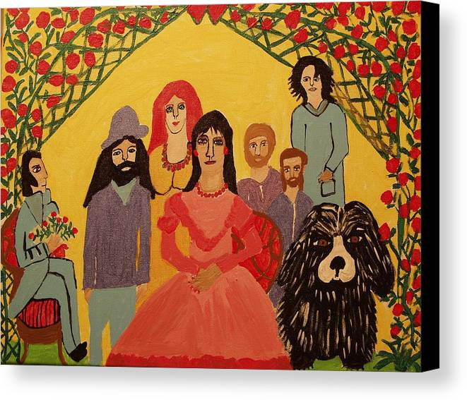 People Canvas Print featuring the painting Reunion by Betty J Roberts