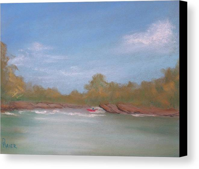 Riverscape Canvas Print featuring the painting River Rocks by Pete Maier