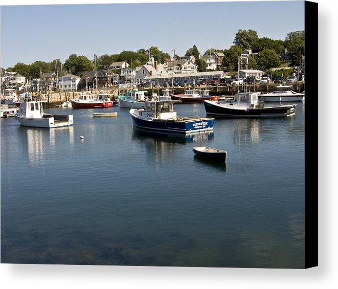 Ocean Canvas Print featuring the photograph Rockport by Michael Edwards