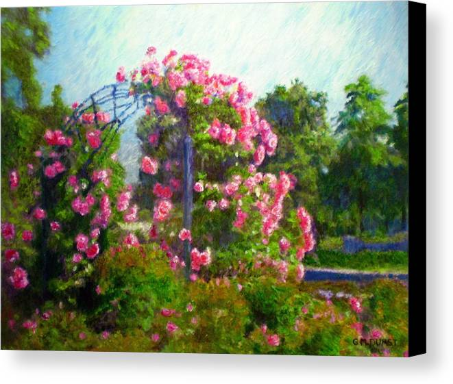 Rose Canvas Print featuring the painting Rose Trellis by Michael Durst