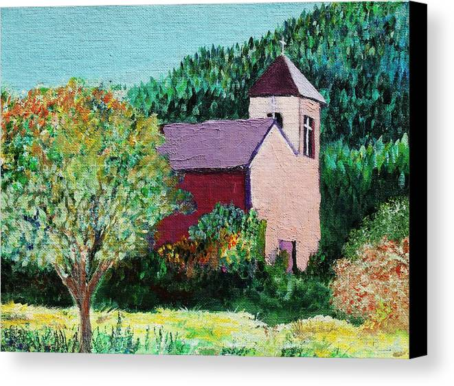 Church Canvas Print featuring the painting Ruidoso by Melinda Etzold