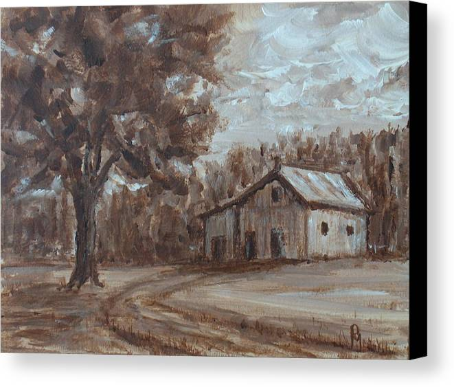 Barn Canvas Print featuring the painting Rustic by Pete Maier