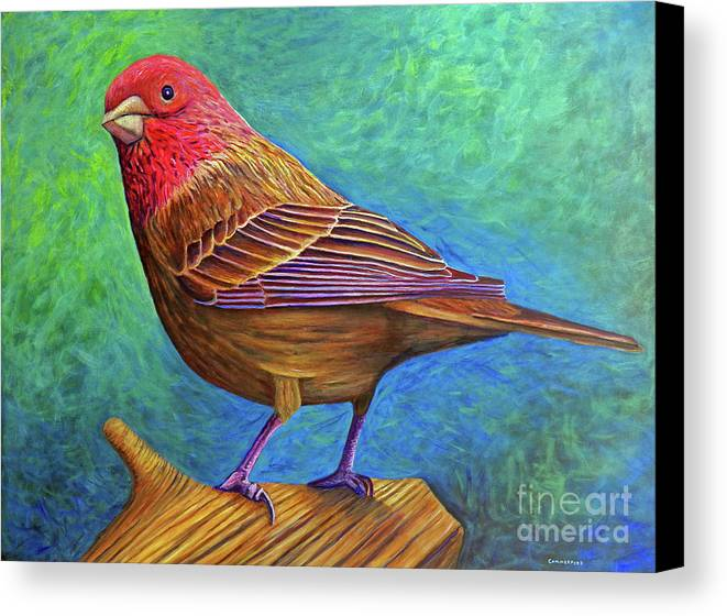 Bird Canvas Print featuring the painting Sacred Space by Brian Commerford