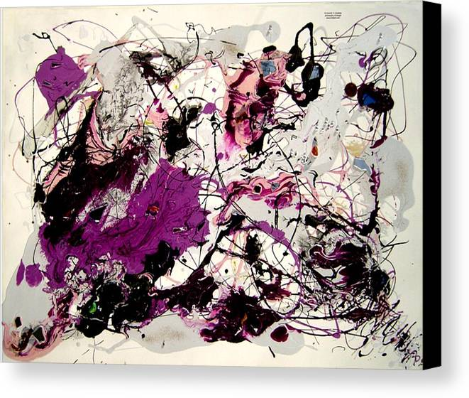 Abstract Canvas Print featuring the painting Saturn by Irma Hinghofer-Szalkay