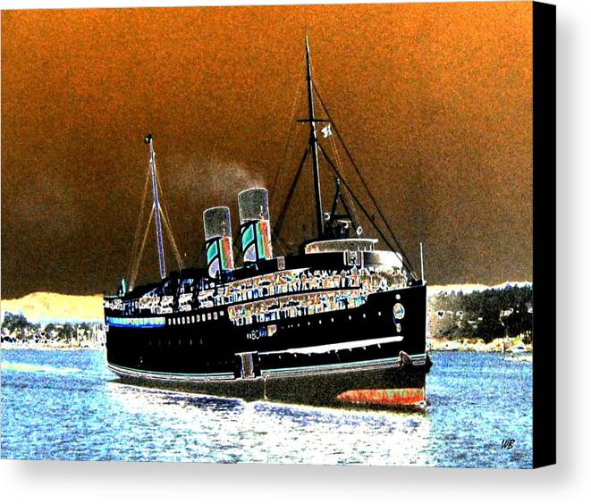 Princess Marguerite Canvas Print featuring the digital art Shipshape 4 by Will Borden