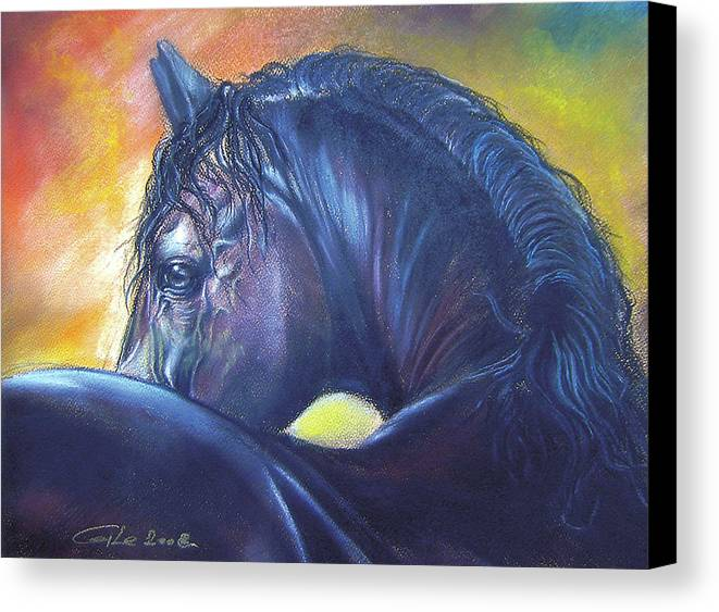 Animal Canvas Print featuring the painting Shy by Dragan Gilic