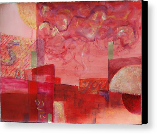 Abstract Canvas Print featuring the painting So Are You by Kevin Stevens