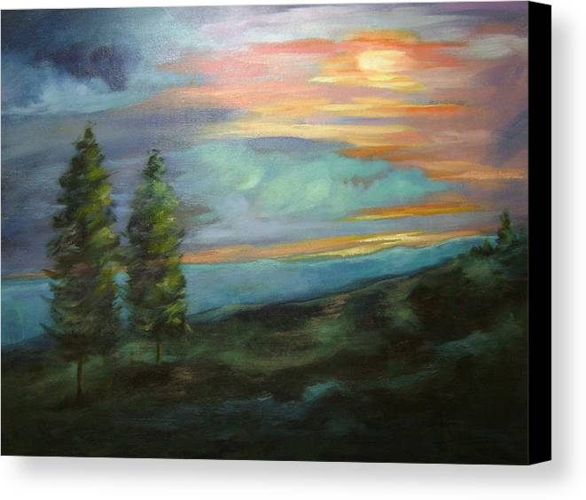 Landscape Canvas Print featuring the painting Soledad by Ginger Concepcion