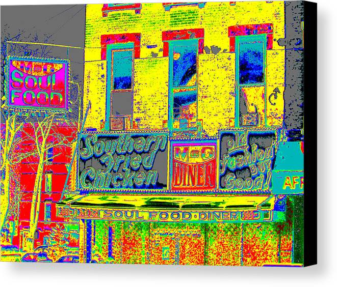 Harlem Canvas Print featuring the photograph Soul Food by Steven Huszar